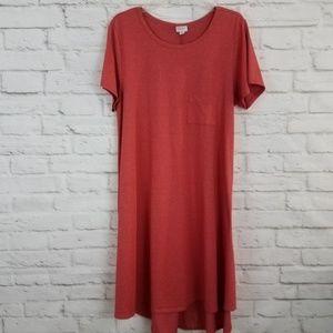 LuLaRoe Carly Dress Orange Short Sleeve Swing XL
